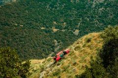 Abandoned car on a hillside. Abandoned car in a hillside Stock Images