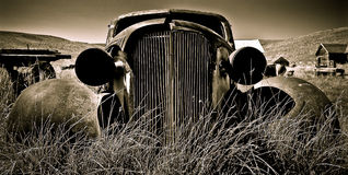 Abandoned Car I. Objects in various stages of decay and aging, abandoned and forgotten - vintage Chevy Stock Image