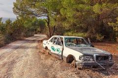 Abandoned car in Ibiza, Spain Royalty Free Stock Photo