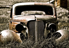 Abandoned Car II. Objects in various stages of decay and aging, abandoned and forgotten - abandoned car Royalty Free Stock Photo