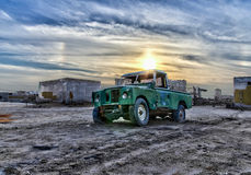 Abandoned Car. An abandoned car left in an abandoned village in Ras Al Khaima in UAE Royalty Free Stock Photography