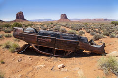 Abandoned Car. An abandoned car located in the Monument Valley Desert, Utah Royalty Free Stock Photos