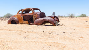 Abandoned car in the Namib Desert Stock Images