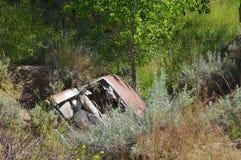 Abandoned car. Stock Photo