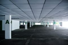 Abandoned car park Royalty Free Stock Photography
