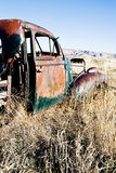 Abandoned car rural Wyoming Royalty Free Stock Photos