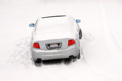 Abandoned Car in the Snow Royalty Free Stock Photography