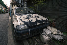 Abandoned car in Tokyo Stock Photos