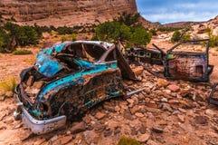 Abandoned car Utah Stock Image