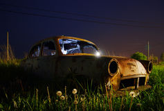 Abandoned car wreck Stock Photos