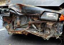 Abandoned Car Wreck Royalty Free Stock Photography