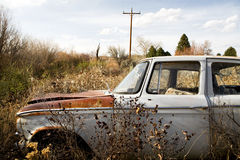 Abandoned car in wyoming Stock Image
