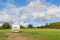 Abandoned Caravan in Field Royalty Free Stock Photography