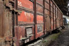 Abandoned Carriage Stock Photo