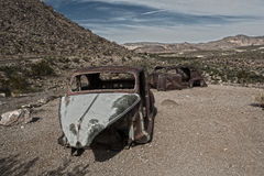 Abandoned Cars. Abandoned and delapidated cars in Arizona desert Stock Images