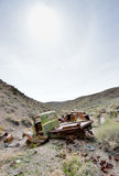 Abandoned cars in desert Stock Photography