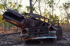 Abandoned Cars At Sunset royalty free stock photos
