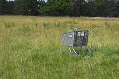Abandoned Cart. Shopping cart abandoned in an empty field Stock Images