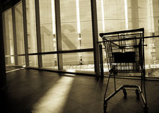 Abandoned cart royalty free stock images