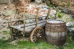 The abandoned cart Stock Images