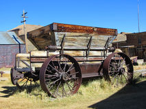 Abandoned cart in Bodie, Ghost Town, California Royalty Free Stock Images