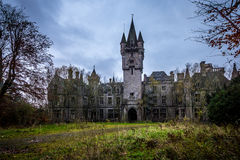 Abandoned castle in Belgium. An abandoned castle in Belgium Stock Image
