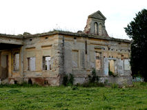 The abandoned castle. Demolished and destroyed the abandoned castle Stock Photo