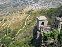 Abandoned castle in Erice Royalty Free Stock Photos