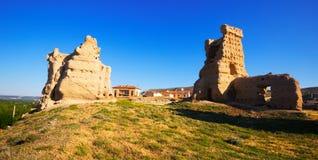 Abandoned castle of Palenzuela Stock Image