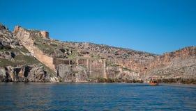 Abandoned castle (Rum Kale) in Halfeti Royalty Free Stock Images