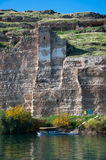 Abandoned castle (Rum Kale) in Halfeti Stock Photo