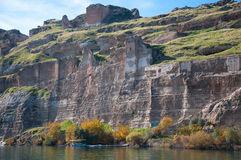 Abandoned castle (Rum Kale) in Halfeti Stock Image