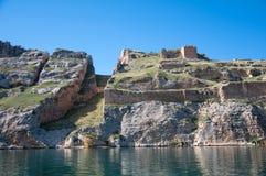 Abandoned castle (Rum Kale) in Halfeti Stock Photography