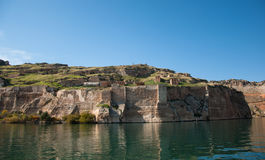 Abandoned castle (Rum Kale) in Halfeti Stock Photos