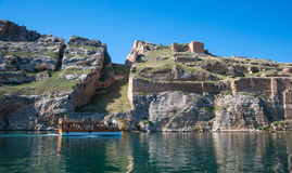 Abandoned castle (Rum Kale) in Halfeti Stock Photography