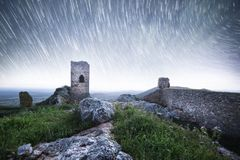 Abandoned castle in Santa Eufemia stock image