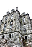 Abandoned Castle Tower with Broken Windows Royalty Free Stock Photo