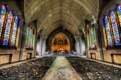 Abandoned Catholic church Stock Photo