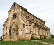 Abandoned catholic temple ruins Stock Photos