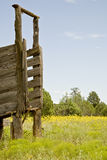Abandoned Cattle Loading Gate Stock Image