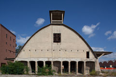 Abandoned cement factory made of concrete in Casal Stock Photography