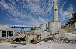 Abandoned cement plant in Oregon Stock Photos
