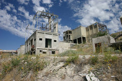 Abandoned cement plant in Oregon Stock Photo