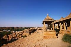 Abandoned cenotaphs of Jaisalmer, India Royalty Free Stock Image