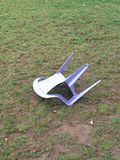 Abandoned chair royalty free stock images