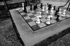 Abandoned Chess Game Royalty Free Stock Image