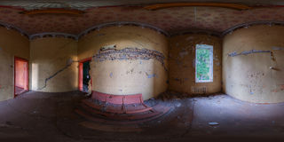 Abandoned chess room panorama Stock Photos