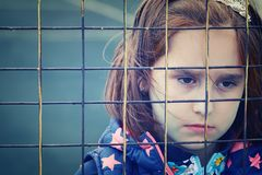 Abandoned child, children without parents royalty free stock photography
