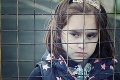 Abandoned child, children without parents stock photography