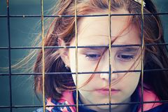 Abandoned child, children without parents royalty free stock images